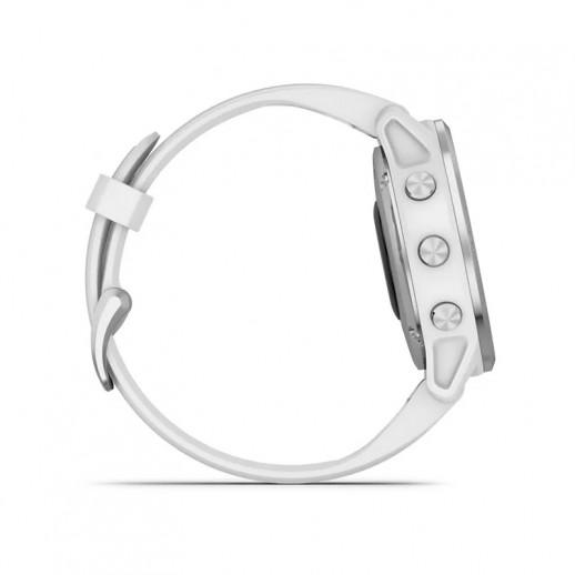 Garmin 6S - Lunetta Silver, cassa White con White band