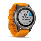 Garmin Fenix 5 Plus Sapphire Titanium con Orange band