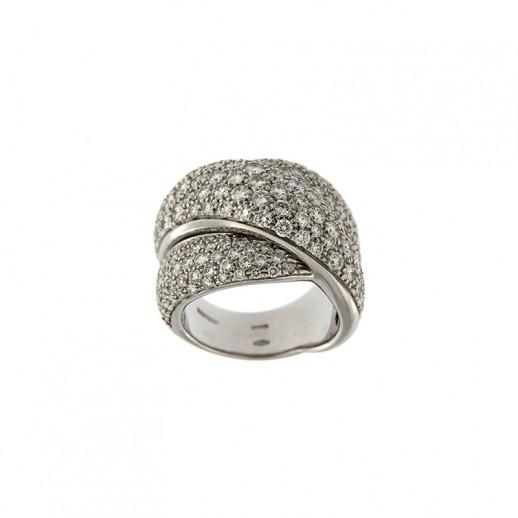 vendita calda online da607 403d9 Anello Damiani in Oro Bianco con diamanti