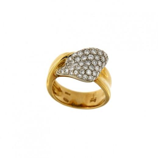 Anello Damiani in Oro Bianco e Giallo con diamanti