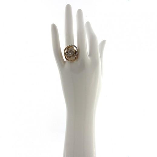 Anello Damiani in Oro Bianco e Rosa con diamanti