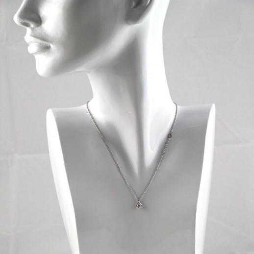 Collana Damiani in Oro Bianco con Diamanti