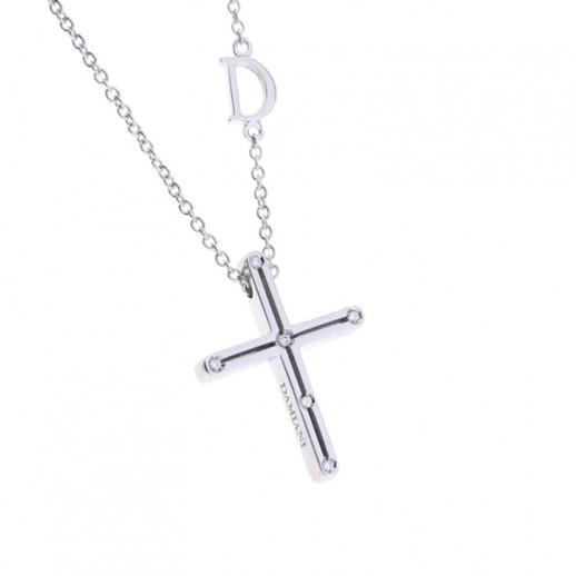 a basso prezzo 2e2aa 5f9e3 Collana Croce D.Side Damiani in Oro Bianco con Diamanti