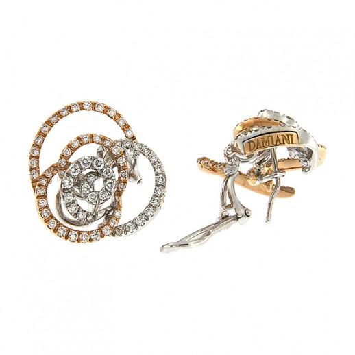 Orecchini Damiani in Oro Bianco e Rosa con Diamanti