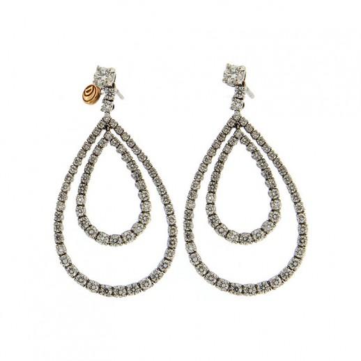 Orecchini Damiani in Oro Bianco con Diamanti