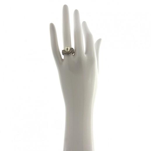 Anello in Orocon Diamanti e perla