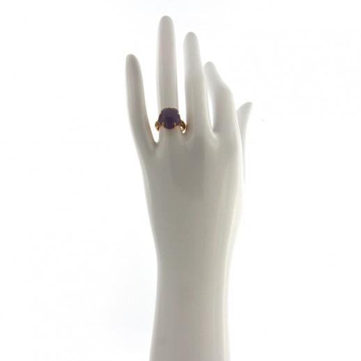 Anello Pasquale Bruni Bon Ton in Oro con Diamanti e Pietra Ametista