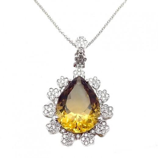 nuovo di zecca e5e2e b52c8 Collana Pasquale Bruni Marilyn Oro Bianco, Topazio e Diamanti