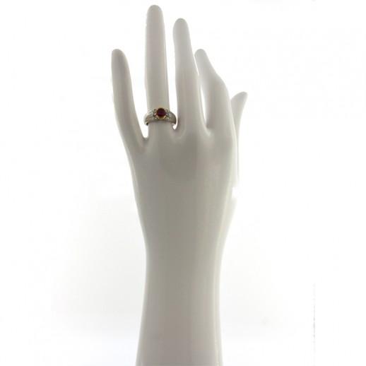 Anello My Valenza in Oro Bianco con Diamanti e Rubini