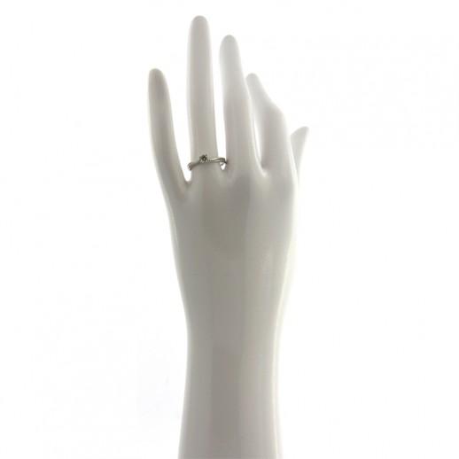 Anello My Valenza in Oro Bianco con Diamante