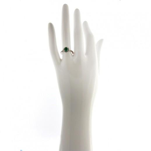 Anello My Valenza in Oro Bianco, Diamanti e Smeraldo