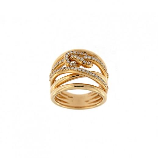 Anello Crivelli in Oro Giallo e Diamanti