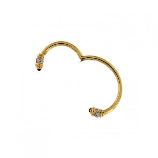 Bracciale Gioielli Valenza Mazzoni in oro giallo con Diamante e Rubini