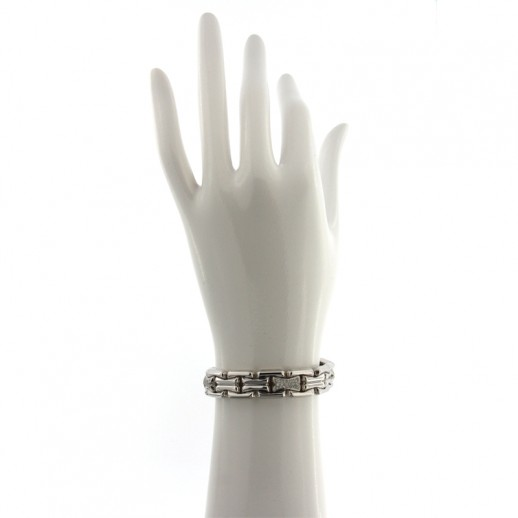 Bracciale Gioielli Valenza Mazzoni in oro bianco con Diamanti