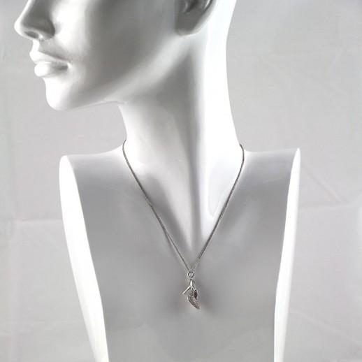 Girocollo Valenza Mazzoni in Oro Bianco con  Diamanti